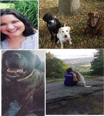 Christiane and her dogs